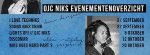 Evenementenprogramma OJC Niks September en Oktober